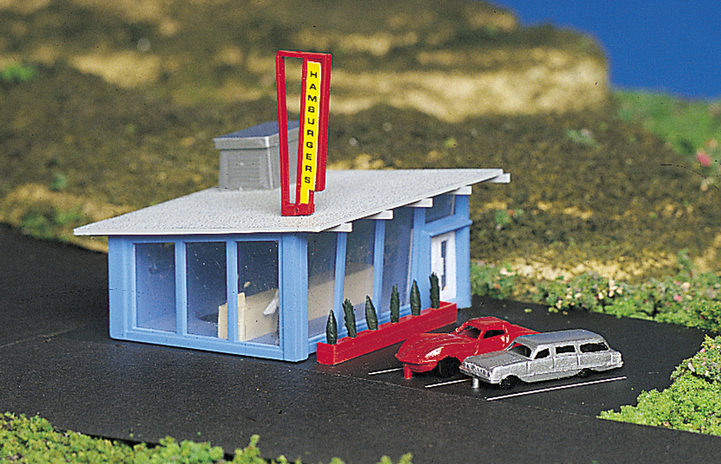 Drive-In Burger Stand (N Scale)