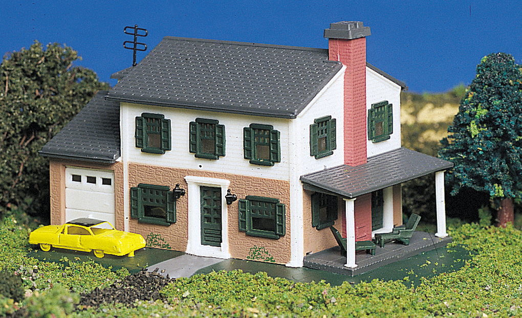 Two-Story House (N Scale)