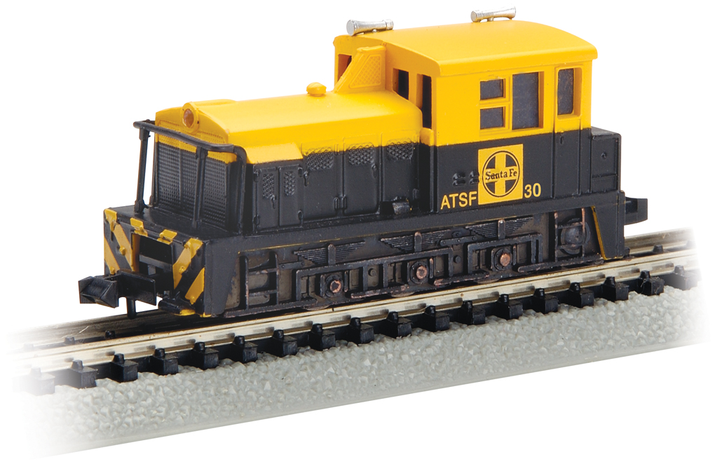 Santa Fe #30 (Blue & Yellow) - MDT Plymouth Switcher (N Scale)