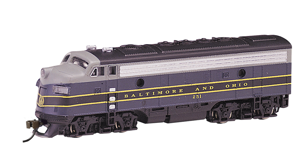 Baltimore & Ohio® (blue, gray & black) - F7A - DCC (N Scale)