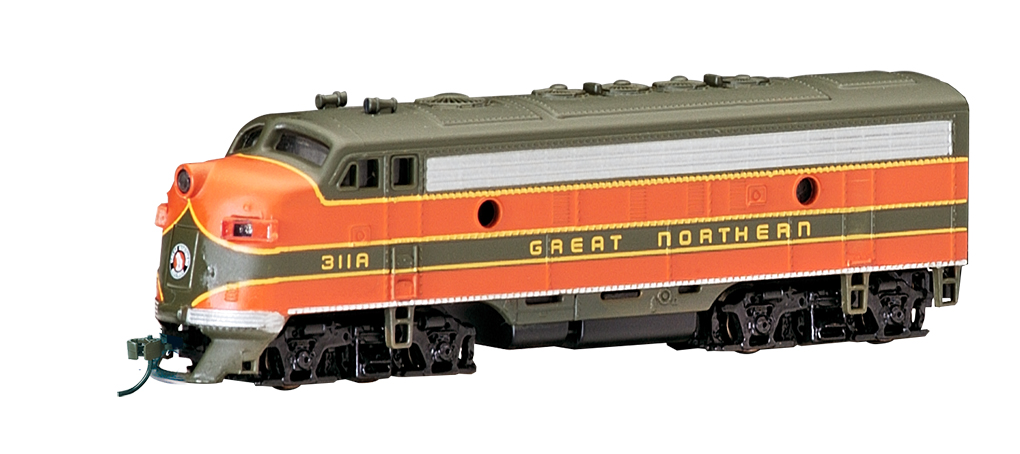 Great Northern (green & orange) - F7A - DCC (N Scale)