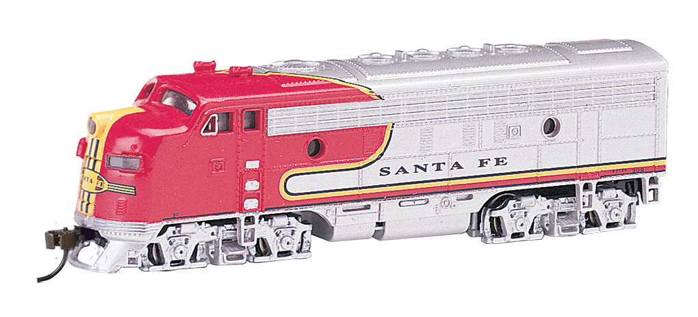 Santa Fe (silver / red War Bonnet) - F7A - DCC (N Scale)