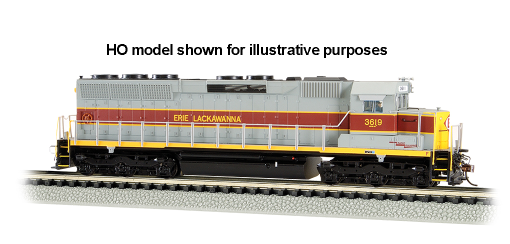 Erie Lackawanna #3619 - SD45 - DCC Sound Value (N Scale)