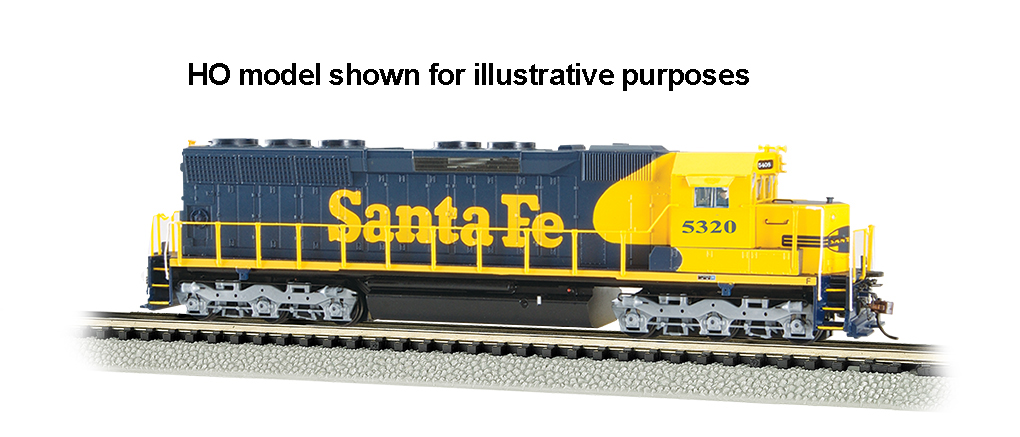 Santa Fe #5320 - SD45 - DCC Sound Value (N Scale)
