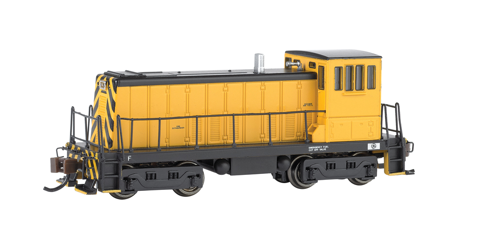 Painted, Unlettered - Yellow & Black GE 70 Ton -DCC (N Scale)