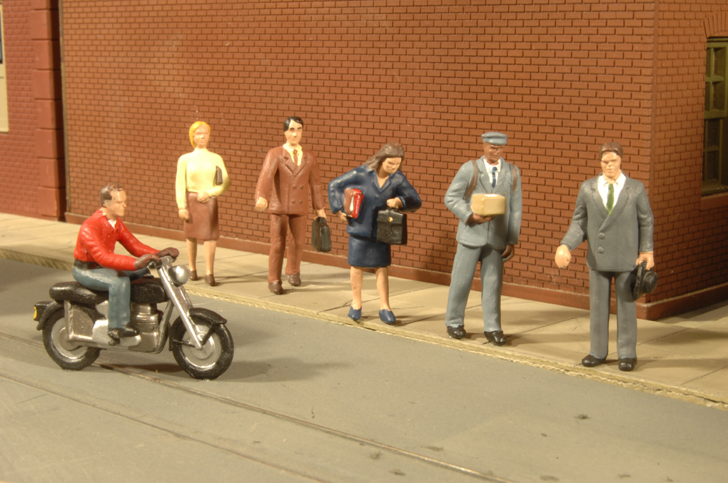 City People with Motorcycle - O scale