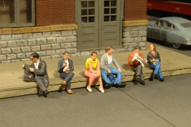 Seated Platform Passengers - O Scale