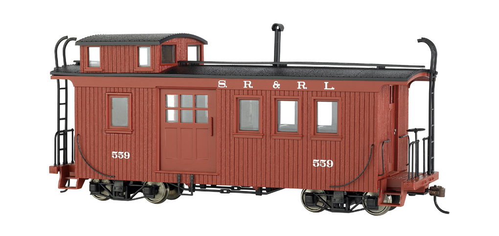 Sandy River & Rangeley Lake Side Door Caboose W/Lighted Interior
