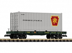 PIKO #38733 PRR Flat Car w/ Container Load