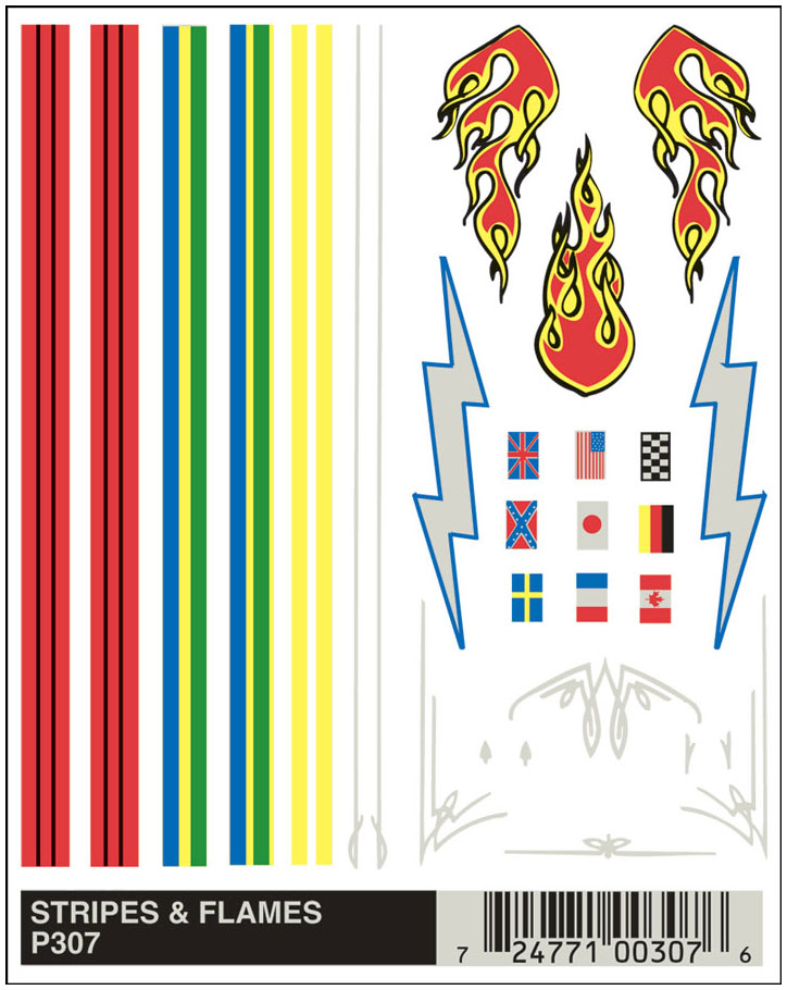 No.307 Stripes & Flames Decals