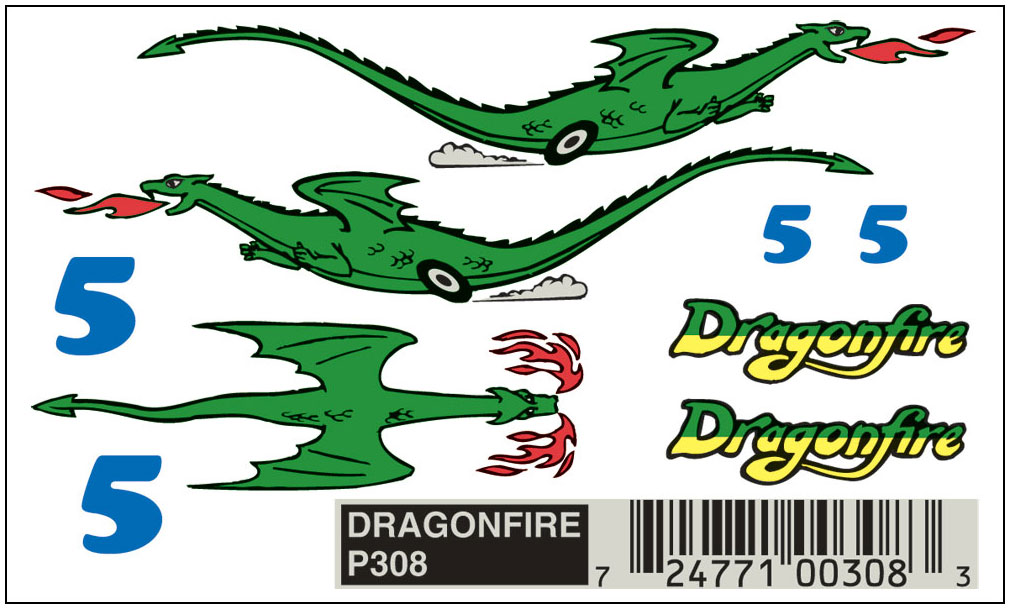 No.308 Dragon Fire Decals