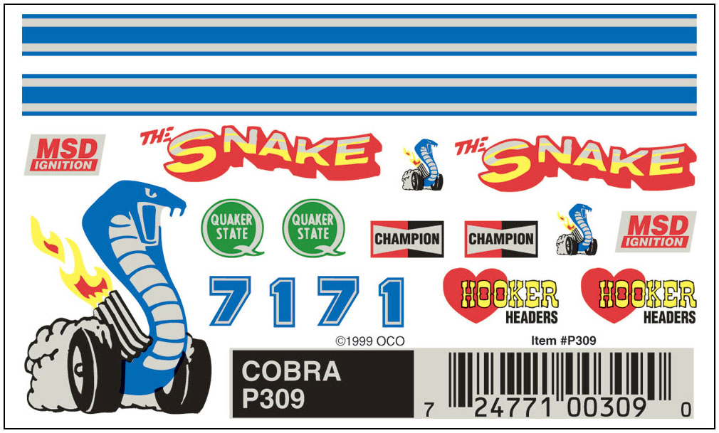 No.309 Cobra Decals