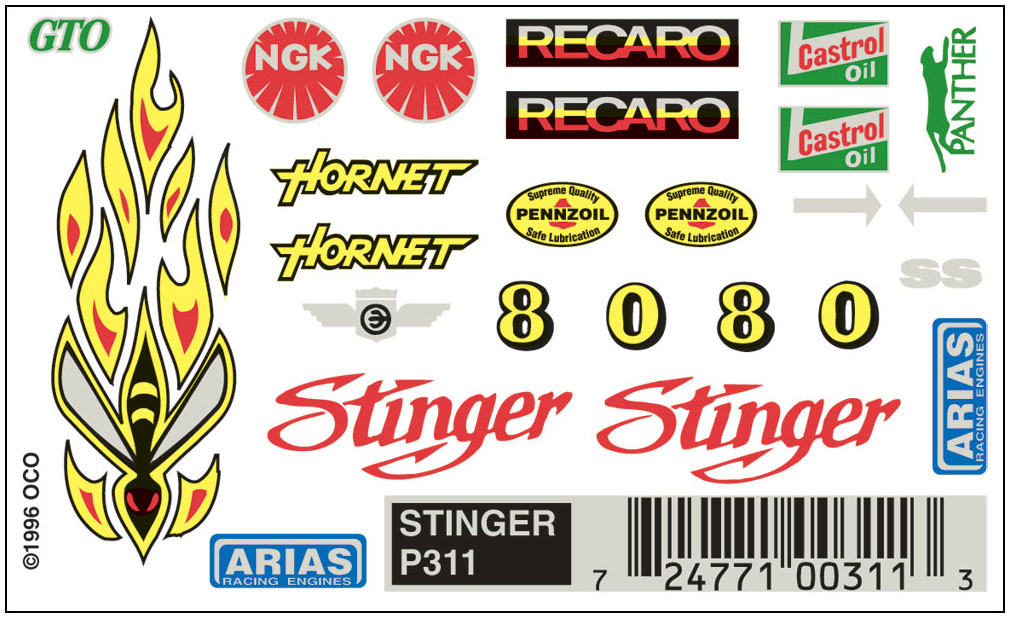 No.311 Stinger Decals