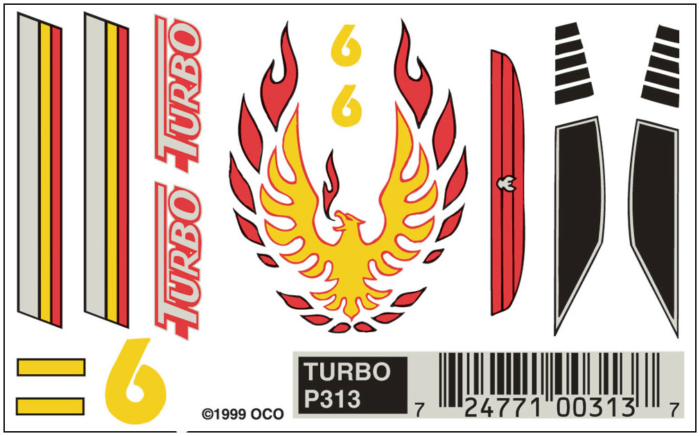 No.313 Turbo Decals
