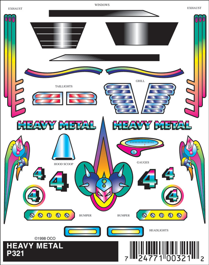 No.321 Heavy Metal Decals