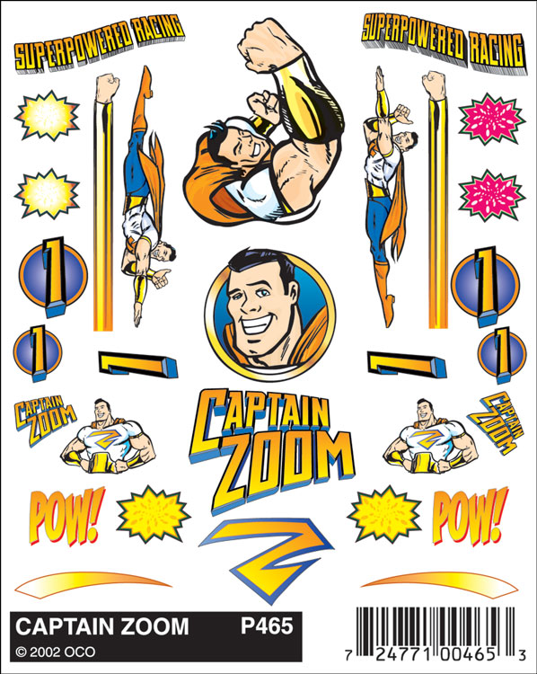 No.465 Captain Zoom Decals