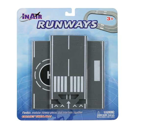 InAir Airport Runway Straight Sections - 3 Piece Set