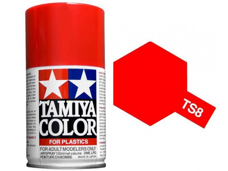 Tamiya TS-8 Italian Red - 100ml Spray Can