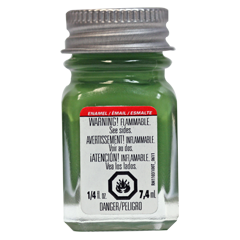 Green - Flat 1/4 oz. Enamel Paint