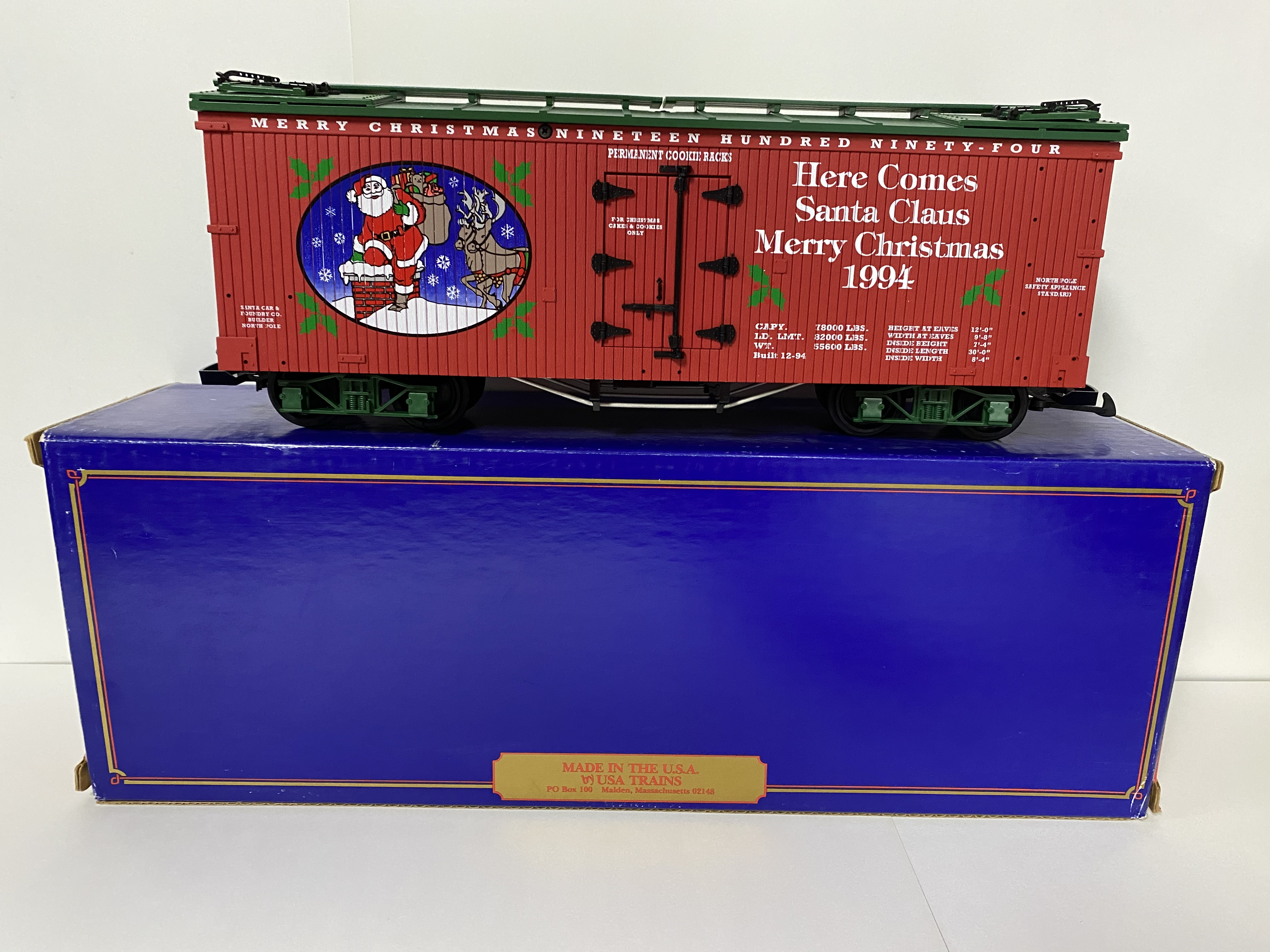 1994 Christmas Reefer (USA Trains R-13012)