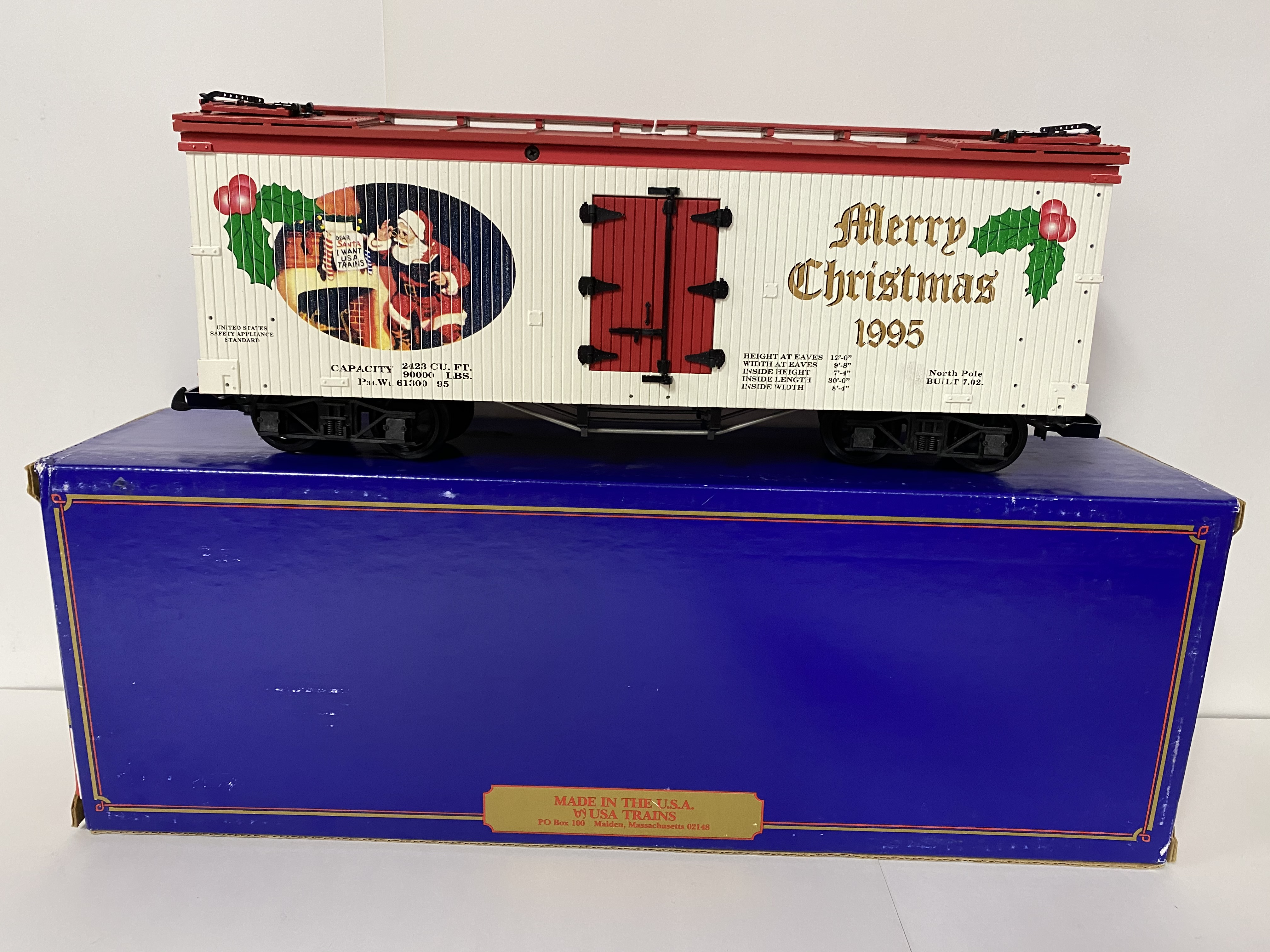 1995 Christmas Reefer (USA Trains R-13013)