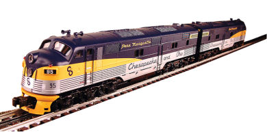 Chesapeake & Ohio® - E-7 Powered A/ Dummy A Set