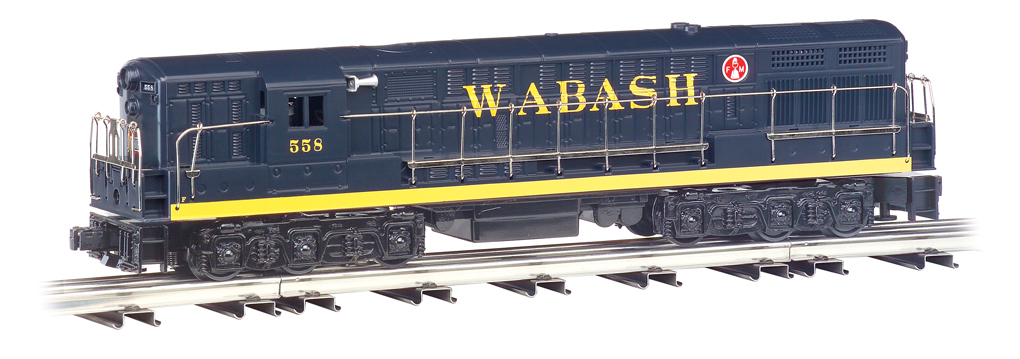 Wabash - Blue/Yellow - FM Trainmaster Powered