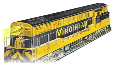 Virginian Yellow/Black - FM Trainmaster Powered