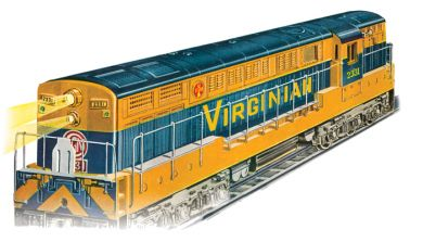 Virginian Yellow/Blue - FM Trainmaster Powered