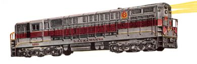 Lackawanna - Maroon Roof - FM Trainmaster Powered