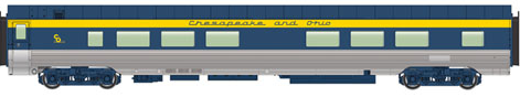 Walthers #920-9512 85' Pullman-Standard 52-Seat Coach #1647