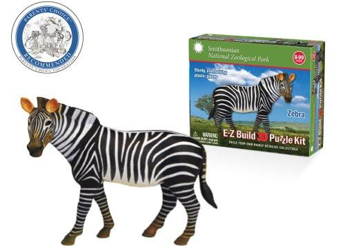 Smithsonian E-Z Build Puzzle - Zebra