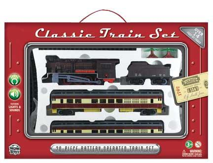 Train Set 20 piece - Steam Engine with Passenger Cars